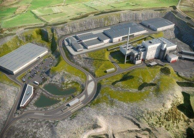 An artist's impression of the proposed waste treatment facility.