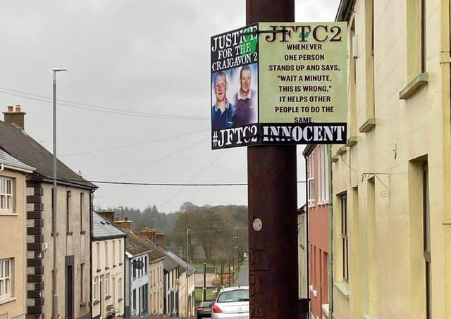 Poster erected in Pomeroy, Co Tyrone