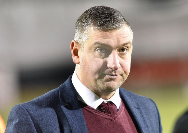 Portadown manager Matthew Tipton.