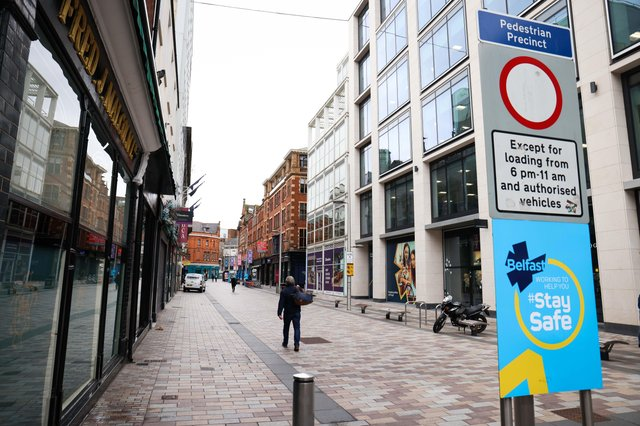 Most of retail in NI's towns and cities remains closed due to lockdown restrictions