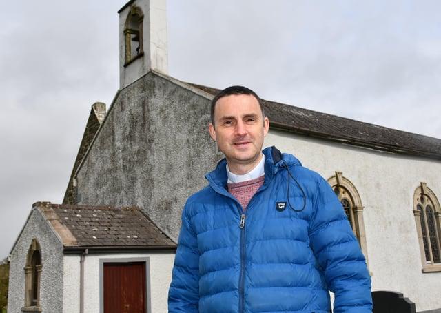 Rev Peter Ferguson at St Bestius' Parish Church in Killeter, Co Tyrone
