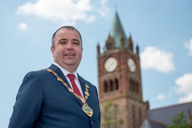 Mayor of Derry City and Strabane District Council, Cllr Brian Tierney