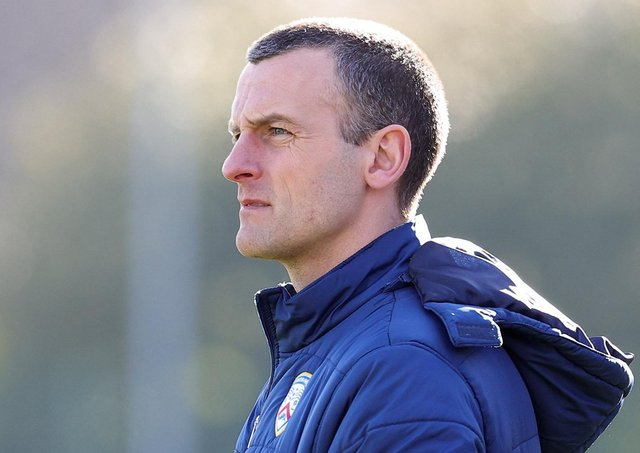 Coleraine manager Oran Kearney. Pic by Pacemaker.