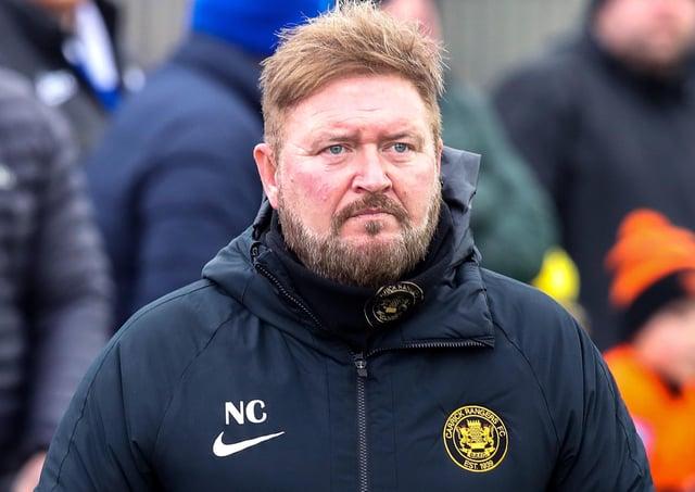 Carrick Rangers boss Niall Currie. Pic by PressEye Ltd.