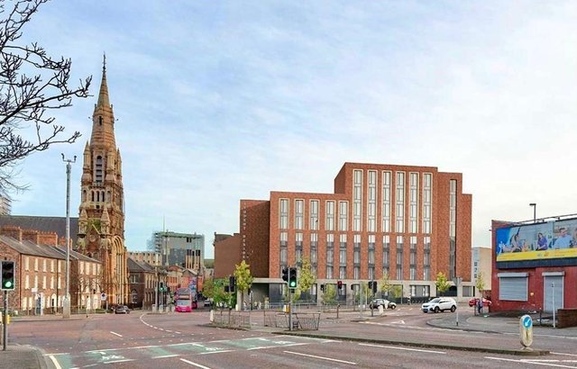 Proposed development of new student accommodation at Donegall Street, Belfast