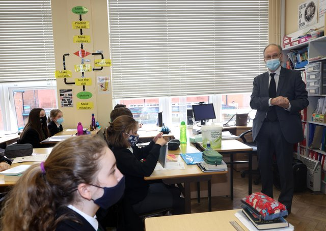Education Minister Peter Weir has been called upon to update Department of Education guidance on restraint and seclusion of pupils. Photo: Stephen Davison/Pacemaker Press