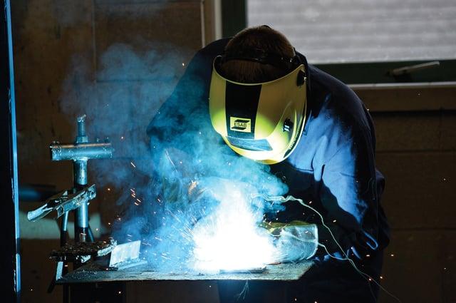 Industry-standard welding training