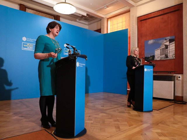 First Minister Arlene Foster and deputy First Minister Michelle O'Neill.