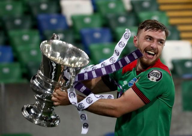Glentoran celebrate victory in last season's Irish Cup final. Pic by PressEye Ltd.