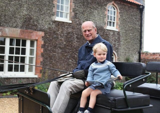 Family photo of the Duke of Edinburgh