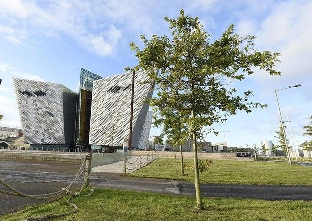 Trees planted at Titanic Belfast