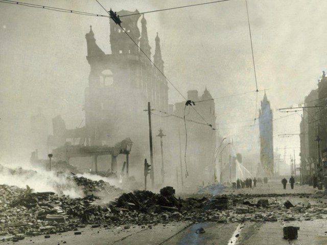 Damage to Belfast during the Blitz of 1981