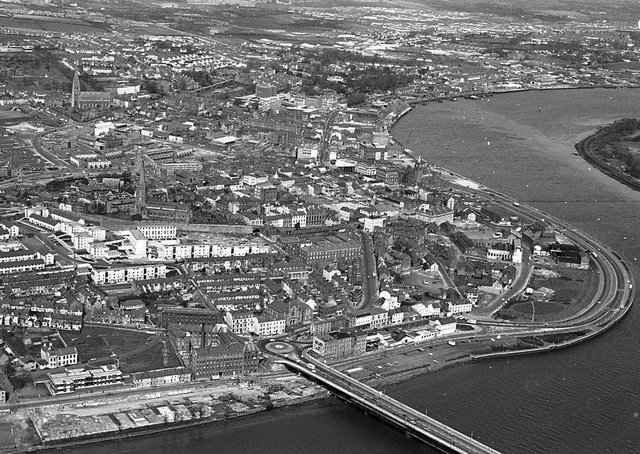 An old aerial photograph of Londonderry from June 1980. Picture: News Letter archives