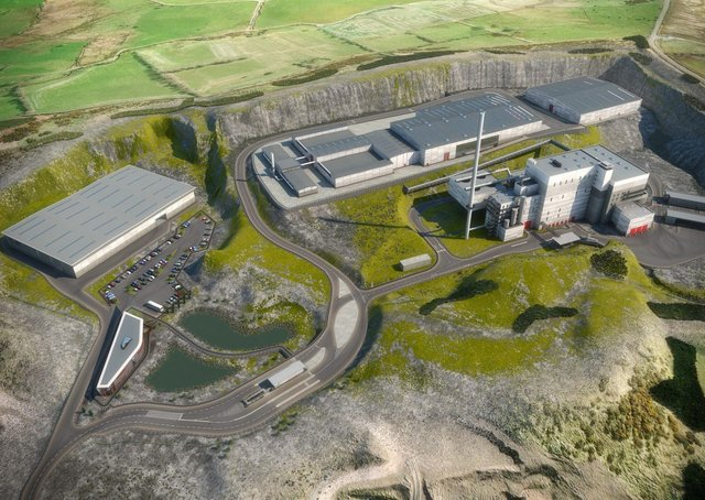 A computer generated image of the proposed incinerator in Mallusk.