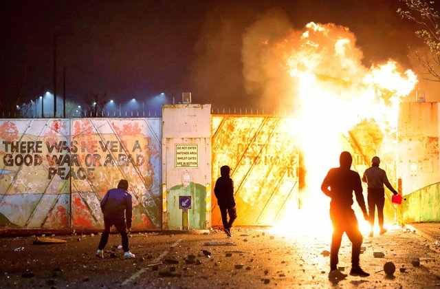 There were riots in Belfast on several nights last week