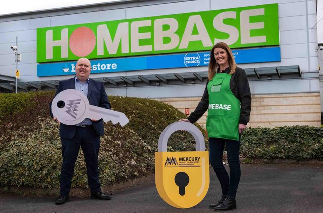 Liam Cullen, MSFM Regional Director UK and Ireland and Karen Turner, Divisional Business Leader, Homebase Ireland, are pictured announcing the deal
