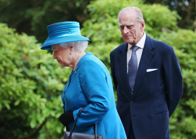 Queen Elizabeth II and Prince Philip, Duke of Edinburgh arrive at Hillsborough Castle on June 23, 2014..  (Photo by Peter Macdiarmid/Getty Images)