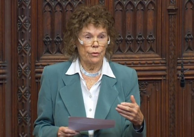 Baroness Hoey in the House of Lords yesterday where she moved an amendment to the government's Overseas Operations (Service Personnel and Veterans) Bill seeking equivalent protection for those army veterans who served in Northern Ireland from 1969