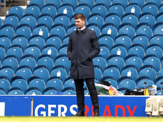 Steven Gerrard is bidding to guide Rangers to their first domestic double of league title and Scottish Cup since the 2008-09 season
