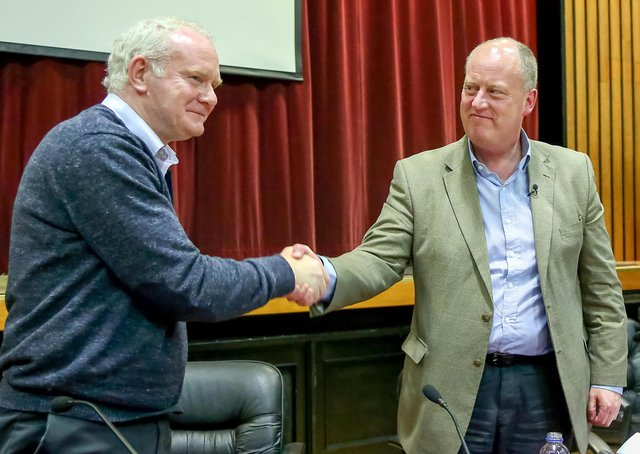 Sir George Hamilton had shared a stage in West Belfast with Martin McGuinness just six days before Kevin McGuigan's murder