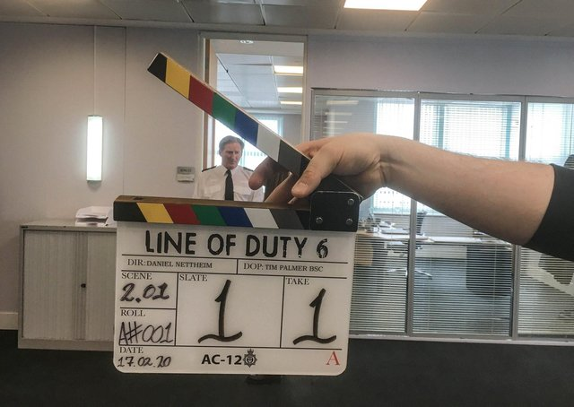 Filming on the current series of Line Of Duty with Superintendent Ted Hastings (Adrian Dunbar) - (C) World Productions - Photographer: World Productions