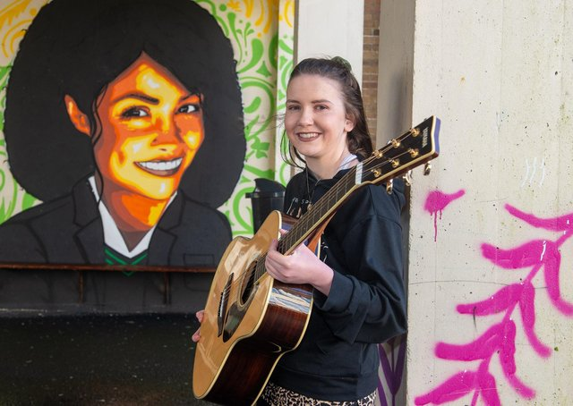 Young musician Cara Monaghan (16), who has batted a heart condition since birth, has teamed up with members of the Afghan Women's Orchestra during the pandemic
