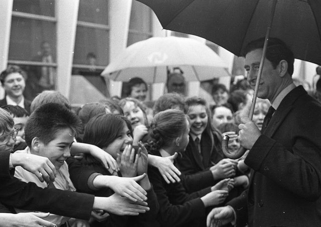 A Royal visit was a handy excuse for missing lessons at Deramore High School in March 1991 when Prince Charles paid a visit to Northern Ireland. Pictures: Trevor Dickson and Cecil McCausland/News Letter archives