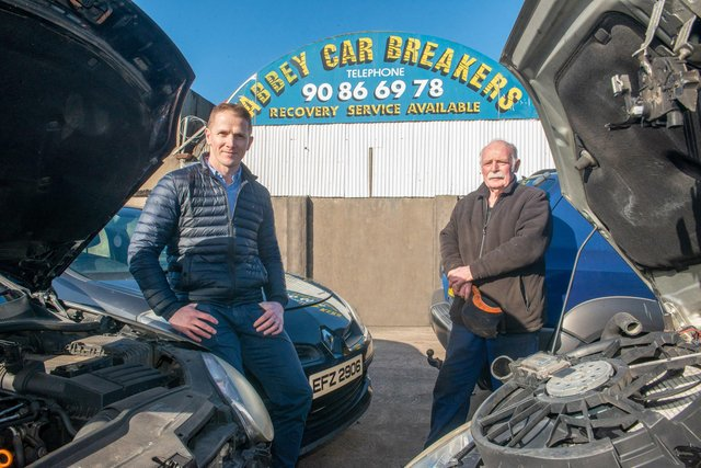 Richard Brennan, Ted4Parts.com and Jim Larkham, Abbey Car Breakers