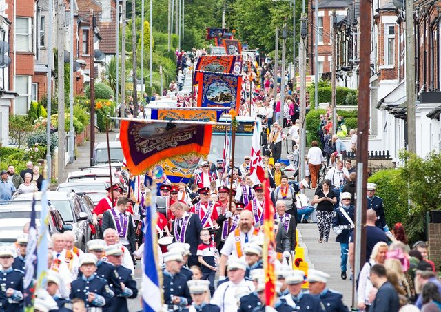 Twelfth celebrations in Holywood, Co Down in 2019