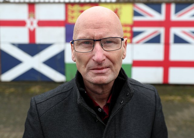 Billy Hutchinson, a former UVF terrorist and a Progressive Unionist Party councillor in Belfast City Council, photographed on the Shankill Road, Belfast. PICTURE BY STEPHEN DAVISON