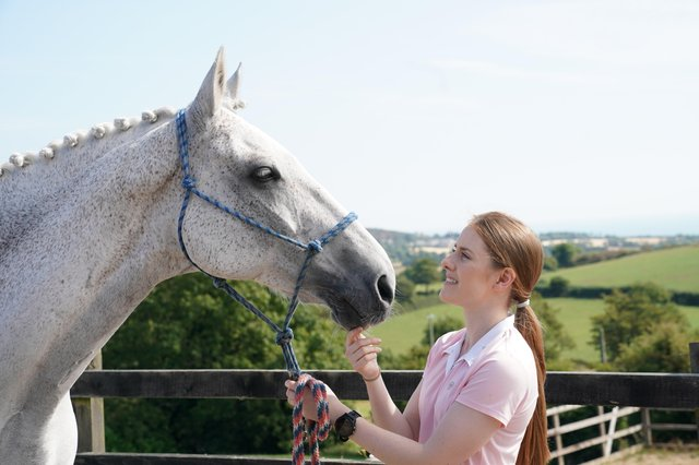 Rachael Coulter, founder ofStable Manage with her horse, Maya