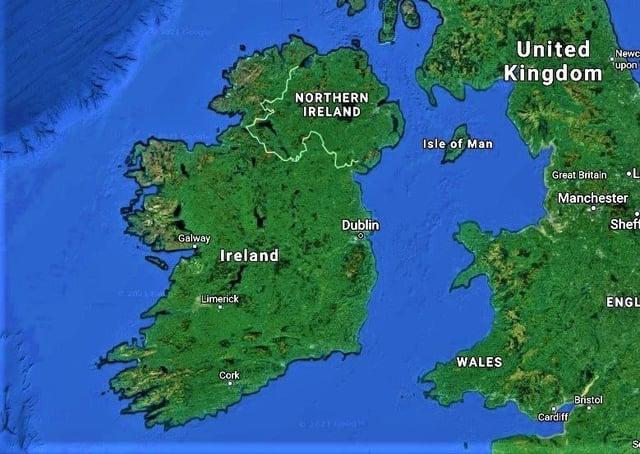 The island of Ireland (c/o GoogleMaps)