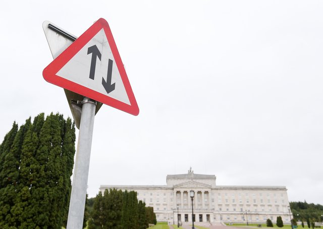 One of the protests was called for Stormont – but no one showed up