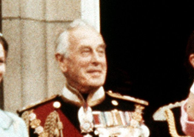 Lord Mountbatten at Buckingham Palace in summer 1977, two years before he was murdered by the IRA while on holiday in Sligo. In the aftermath of the funeral of Prince Philip, Sinn Fein leader Mary Lou McDonald has apologised for the assassination. Photo: PA Wire