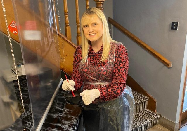 Anne Cobb, owner of Eclipze Hair Studio in Dromore Co Down, says her staff and clients can't wait to open up again this Friday.