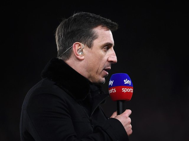 Sky Sports commentator Gary Neville