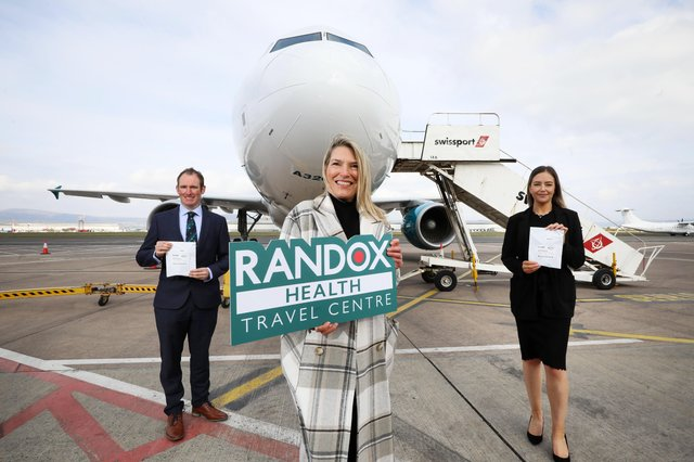 John McConnell, H&J Martin, Judith Davis, Airport Operations Manager, and Sophie Boyd, Project Manager at Randox