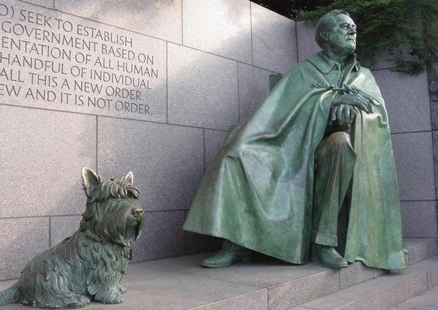 Franklin D Roosevelt Memorial, Washington DC. Picture: PA Photo