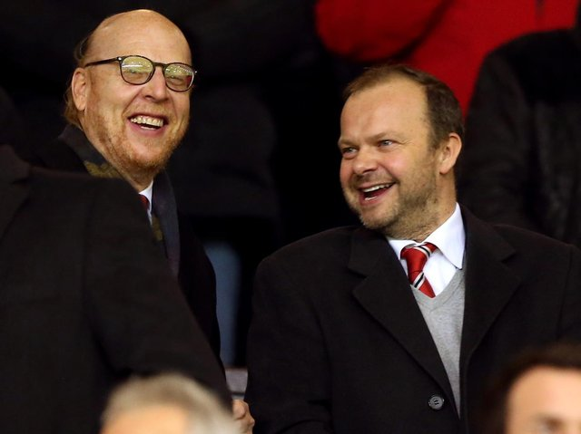 Manchester United co owner Joel Glazer (left) and Executive Vice Chairman and Director Ed Woodward