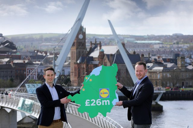 Christopher Speers, Property Executive Lidl NI and Conor Boyle, Regional Director Lidl NI