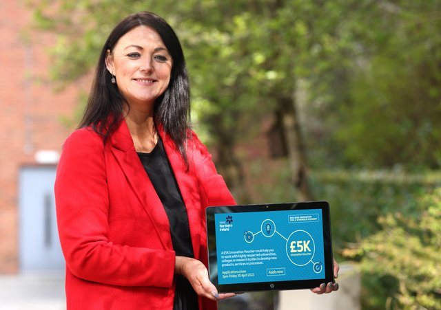 Elaine Flynn, Commercial Contacts Manager, South Eastern Regional College is calling for applications from local businesses and entrepreneurs to avail of a £5,000 Innovation Voucher
