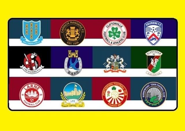 The logos of Northern Ireland's premiership teams