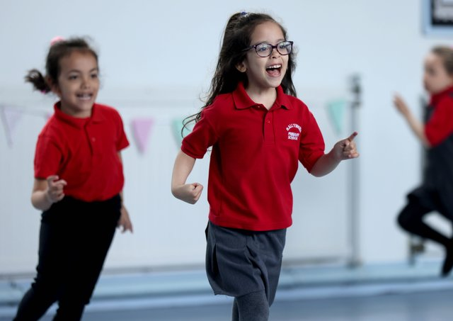 P2 pupils take part in their exercise class at Ballymena Primary School.PICTURE BY STEPHEN DAVISON/PACEMAKER