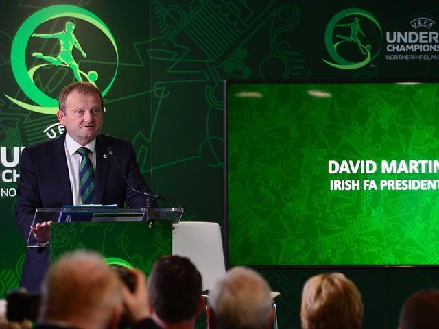 Irish Football Association president David Martin