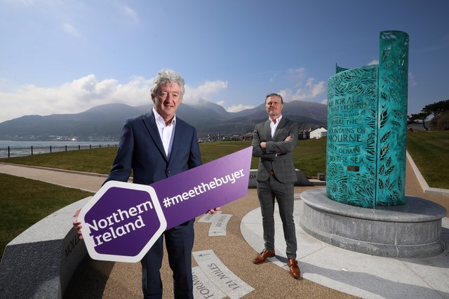 Pictured outside the Slieve Donard Hotel in Newcastle are John McGrillen, Tourism NI's Chief Executive and Ciaran Doherty, Stakeholder Liaison Manager at Tourism Ireland