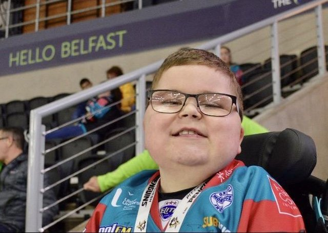 Ethan McClean is a huge fan of the Belfast Giants, whose coach Adam Keefe has kept in touch with the 12-year-old during lockdown