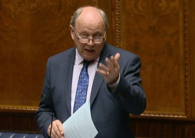 Jim Allister on the floor of the Assembly