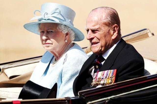 Queen Elizabeth II and the late Duke of Edinburgh.