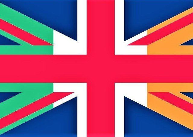 A combination of the UK and Irish national flags