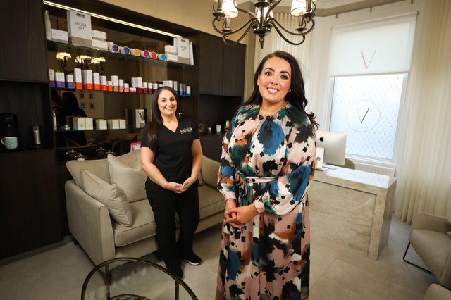 Vermilion is owned and operated by Registered Nurse, Donnamarie McGrillen, pictured with Clinic Manager, Nadia Vesali Hughes